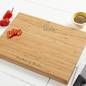 Personalized Bamboo Cutting Boards - Lovebirds - 14508