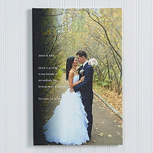 Personalized Wedding Photo Canvas Prints - Wedding Sentiments - 14510