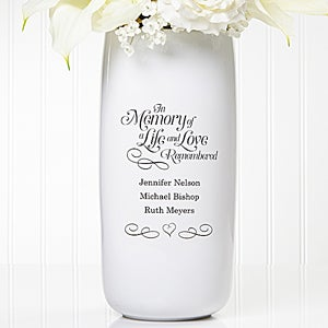 Personalized Wedding Memorial Vase - In Memory Of - 14511