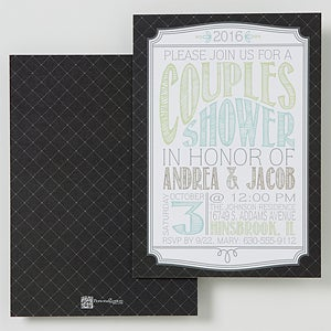 Personalized Couples Wedding Shower Invitations - Mr. & Mrs. to be - 14521