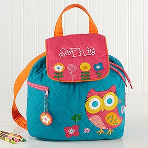 Personalized Girls Backpack - Lovable Owl - 14549