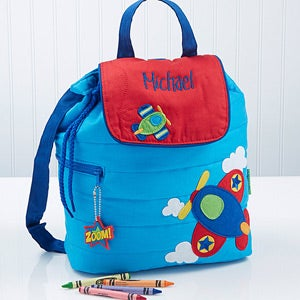 Personalized Boys Backpack - Airplane - 14550