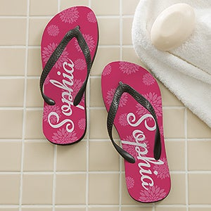 Personalized Flip Flop Sandals - Flower Power - 14556