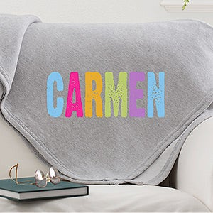 Personalized Kids Name Sweatshirt Blankets - All Mine - 14570