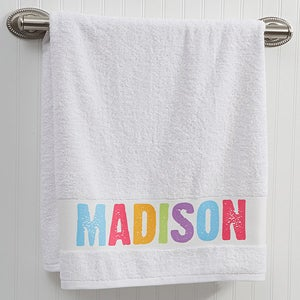 Personalized Kids Bath Towels - All Mine - 14573