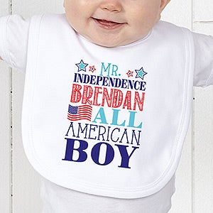 Personalized Kids Clothes - All American Kid - Red, White & Blue - 14577