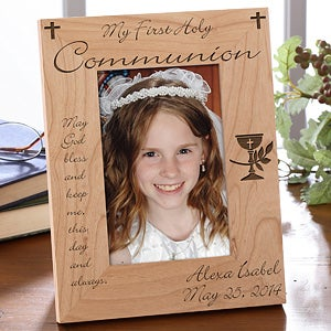 Personalized First Communion Picture Frame - Blessed Sacrament - 1458