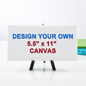 "Design Your Own Custom Canvas Print - 5.5"" x 11"" - 14588"