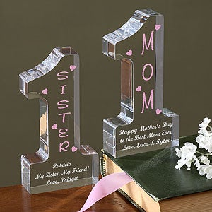 Personalized Gift for Mom and Grandma - Number One Design - 1459