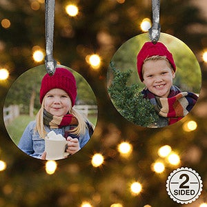 Personalization Mall Personalized Photo Christmas Ornaments - 2-Sided Personalization at Sears.com