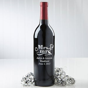 Personalized Wine Bottle - Wedding & Anniversary - Mr. and Mrs. - 14601D