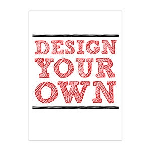 Design Your Own Stationery Flat Card - 14603