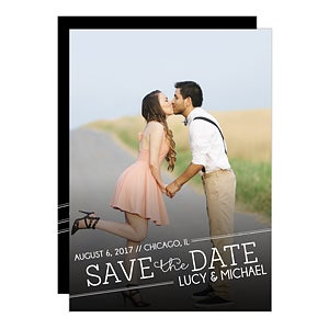 Personalized Photo Save The Date Cards & Magnets - Meet In The Middle - 14606