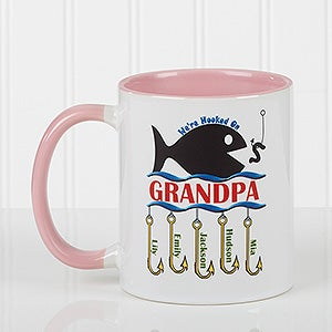 Personalized Fishing Coffee Mugs - Hooked On You - 14619