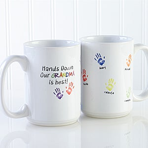 Personalized Coffee Mugs - Kids Handprints - 14622