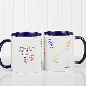 Personalized Coffee Mugs Kids Handprints 14622