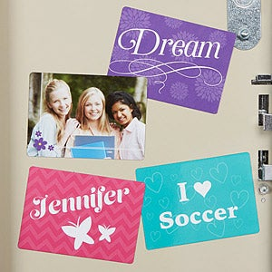 Personalized School Locker Magnets - Fun Girl - 14626