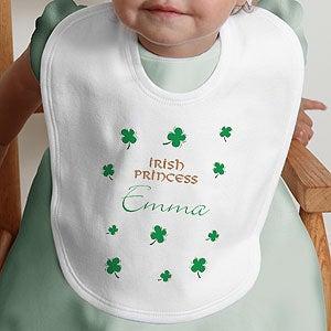 Personalization Mall Personalized Baby Bibs - Irish Prince & Princess at Sears.com