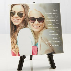 personalized friends photo tabletop canvas print photo sentiments