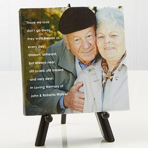 Memorial Photo Sentiments Tabletop Canvas Print- 5½ x 5½ - #14664-5x5