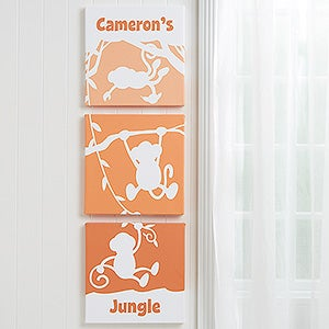 Personalized Kids Canvas Wall Art - My Room Silhouette - 14667