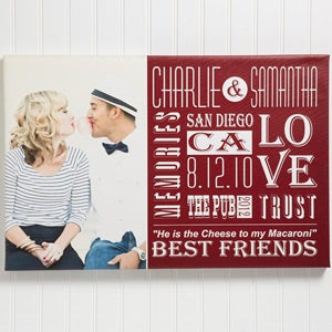 Personalized Couple Photo Canvas Print Wall Art - Our Life Together - 14676