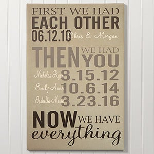 Personalized Family Canvas Print - First Was Us - 14681