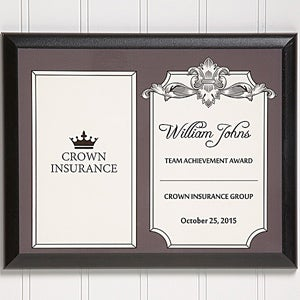 Personalized Corporate Award Plaque - 14692