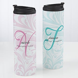 Personalized Coffee Mug Travel Tumbler - Name Meaning - 14699