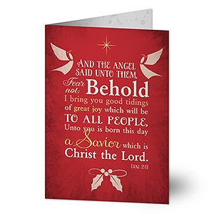 Personalized Religious Christmas Cards - Glory To God - 14714