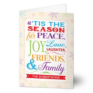 Personalized Christmas Cards - Season For Friends & Family - 14720