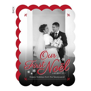 Personalized photo Christmas Card - First Noel - Baby & Wedding - 14721