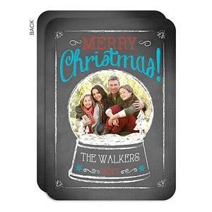 Personalized Photo Christmas Card - Snow Globe - 14722