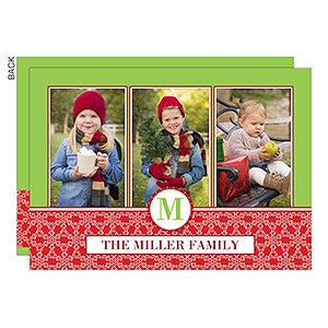 Personalized Photo Christmas Cards - Holiday Monogram Photo Collage - 14727