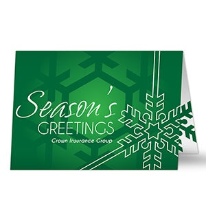 Personalized business christmas cards with logo joyous season buy personalized business christmas cards add your own text company logo free personalization fast shipping colourmoves