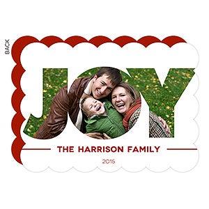 Personalized Photo Christmas Cards - Joy Photo Postcard - 14740