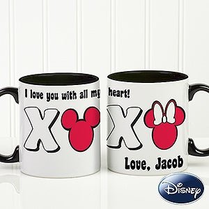 Personalized Mickey Mouse & Minnie Mouse Coffee Mug - Romantic Disney - 14741