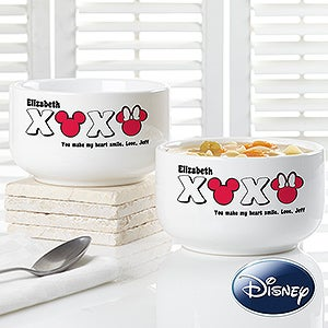 Personalized Mickey Mouse & Minnie Mouse Bowls - XOXO Disney - 14742