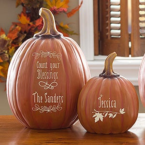 Personalized Decorative Pumpkins - Count Your Blessings - 14751