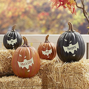Personalized Pumpkins - Bat Family - 14752