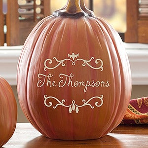 Personalized Pumpkins - Bat Family - 14752