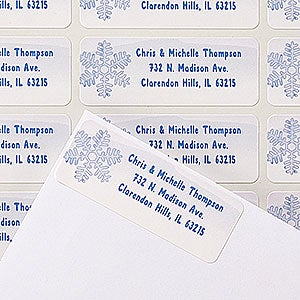 Personalized Snowflake Return Address Labels - Warm Winter Wishes - 14757