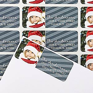 Personalized Holiday Photo Address Labels - Through The Year - 14759