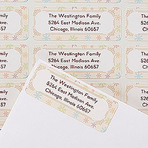 Personalized Return Address Labels - Season For Friends and Family - 14764