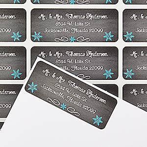 Personalized Christmas Address Labels - Snow Globe - 14766