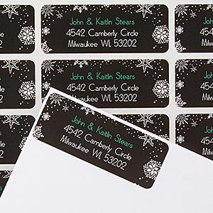 Personalized Address Labels - Falling Snowflakes - 14767