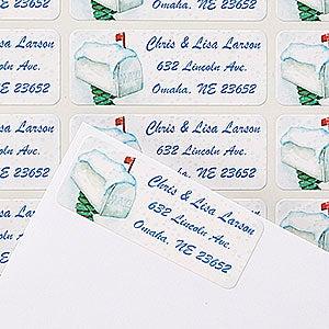 Personalized Winter Return Address Labels - Enchanted Snow Escape - 14775