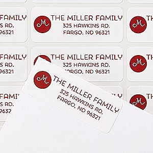 personalized return address labels holiday joy