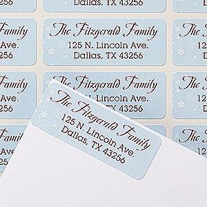 Personalized Christmas Return Address Labels - Happy Howlidays - 14778