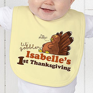 Personalized Baby Bib My First Thanksgiving Thanksgiving Gifts
